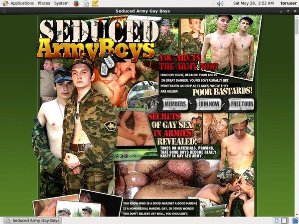 New Seducedarmyboys.com Accounts