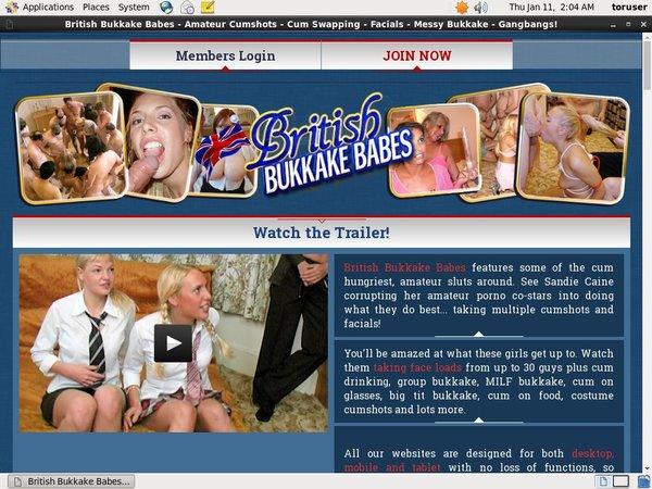 Britishbukkakebabes.com 3 Day Trial